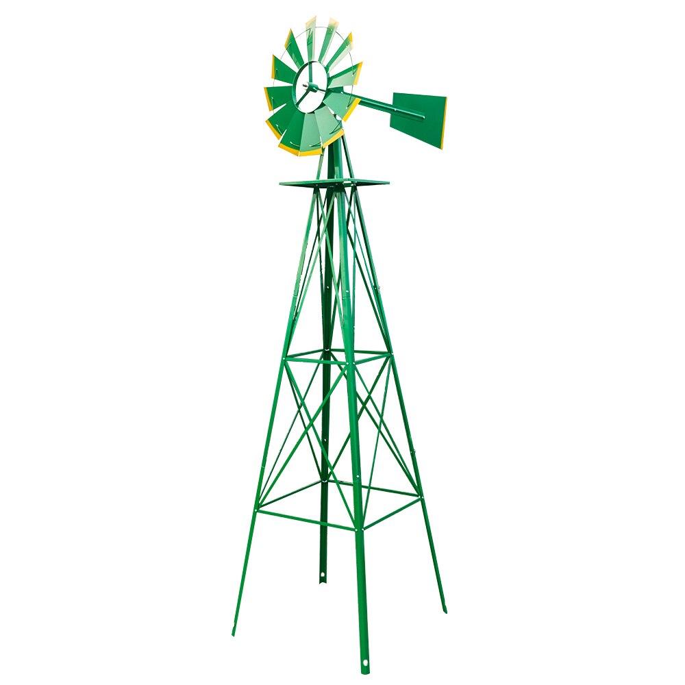 8 피트 내후성 마당 정원 풍차 녹색 장식 홈 마당 정원 장식 도구