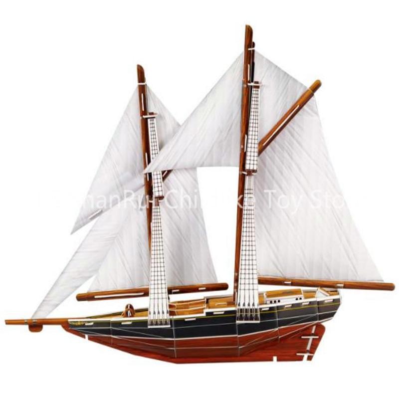 Интеллектуальные Креативные 3D пазлы, бумажная модель корабля, бумажная модель, имитация корабля, детские игрушки «сделай сам»