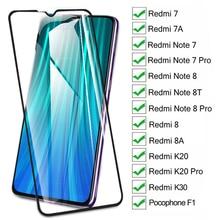 15D Dello Schermo di Vetro di Protezione Sul Redmi 8 8A 7 7A K20 K30 Per Xiaomi Pocophone F1 Redmi Nota 8 8T 7 Pro Temperato Glas Pellicola Caso