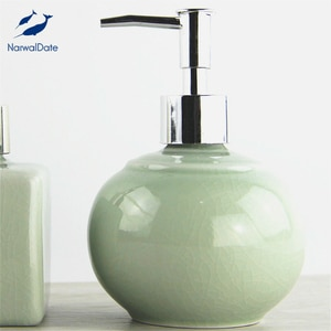 NarwalDate Retro Soap Dispenser Kitchen Sink Bathroom Vanity Countertop Vintage Liquid Cream Pump Bottle Ice Crack Best Gift