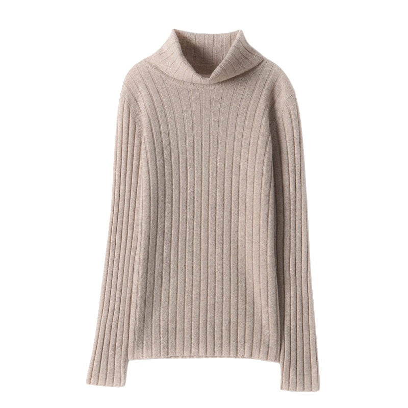 SHUCHAN 30% Cashmere 70% Wool SWEATER WOMEN Turtleneck Solid  Fall Clothes for Women 2021 Fashion Sexy