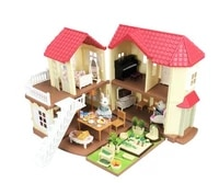 toy house childrens play house simulation villa set assembled castle light house forest animal family toy gift box christmas
