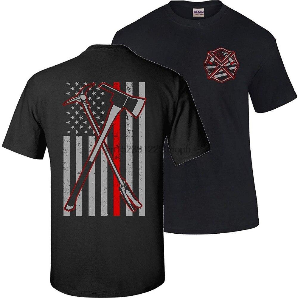 Axe Halligan 2 Hero delgada línea roja bombero nueva Alta Calidad 2019 manga corta Camiseta de algodón divertida Camiseta de algodón