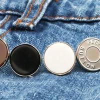 replacement buttons jeans clip snap button perfect fit instant universal buckles thin waist detachable pants button