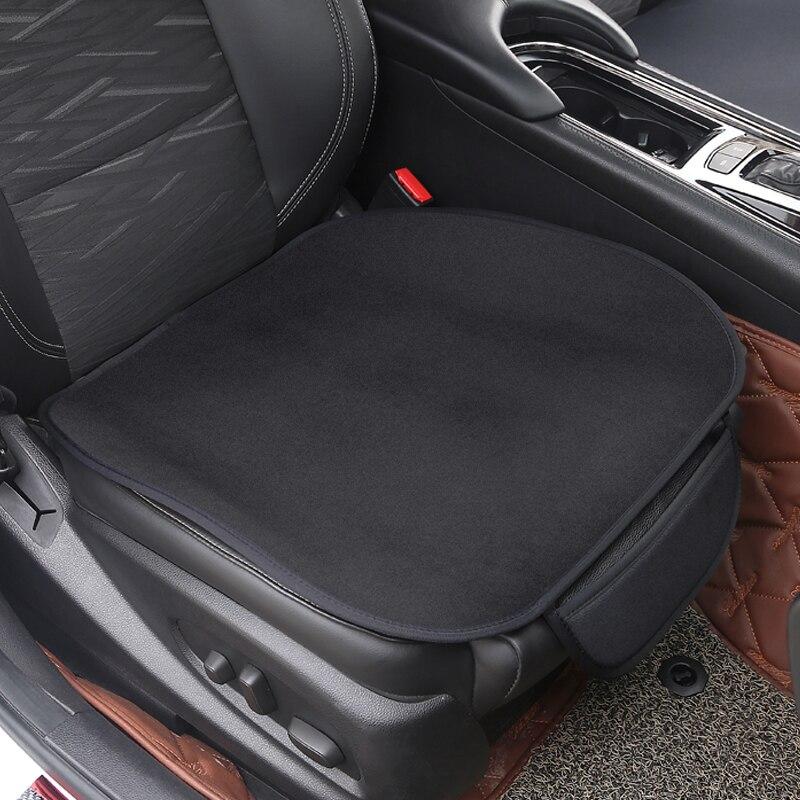 Подушка на сиденье автомобиля, нескользящая накидка из вискозы, бархатный плюш для Hyundai logo i20 i30 i35 iX35, 1 комплект