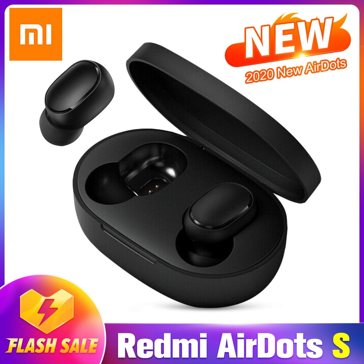 Redmi Xiaomi Airdots TWS auriculares bluetooth inalámbricos 5,0 AI Control de juegos auriculares con micrófono reducción de ruido actualización AirDots S