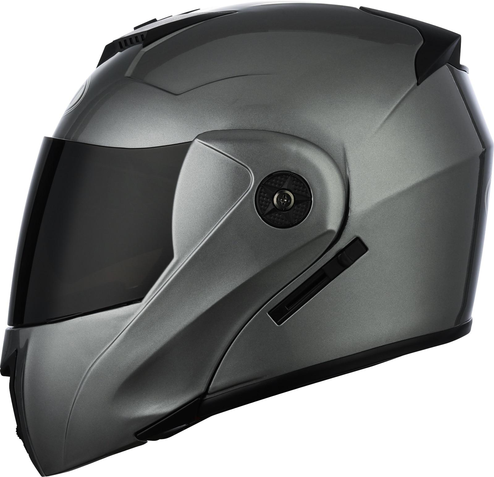 Мотоциклетный шлем с откидной крышкой, модульный шлем для мотокросса с двойными линзами, шлем на все лицо, 2021