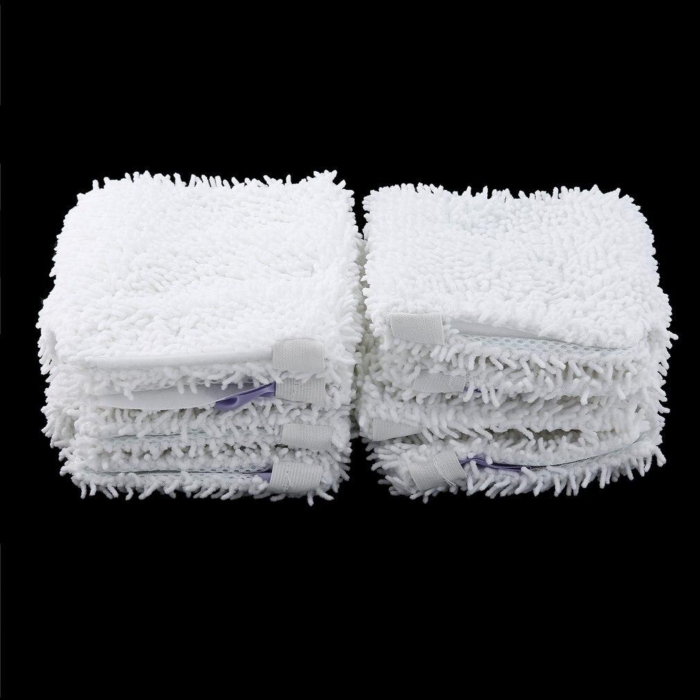 8 Uds almohadilla de repuesto para cabezal de mopa para Shark S3501 almohadillas de limpieza lavables de microfibra paños lavables a máquina de Color blanco