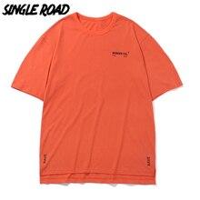 SingleRoad Man's T-shirt Men 2020 Summer Oversized Orange Punk Top Hip Hop Japanese Streetwear Harajuku Tshirt Male T Shirt Men