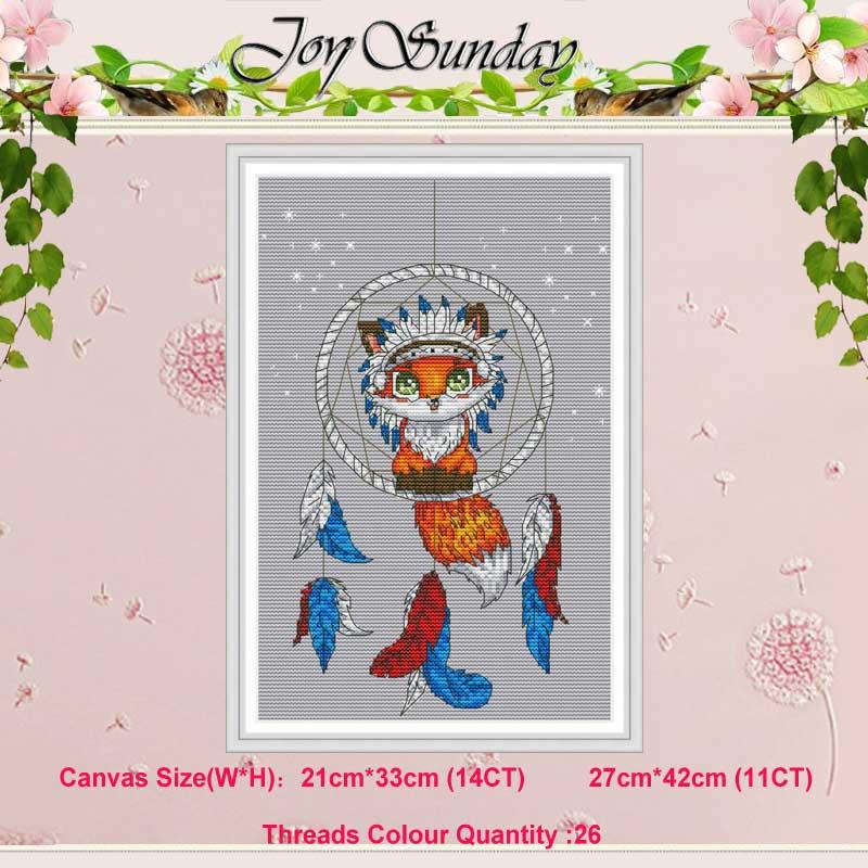 Pequena raposa animais padrões contados 11ct 14ct conjuntos de ponto cruz diy chinês kits de ponto cruz bordado needlework decoração de casa