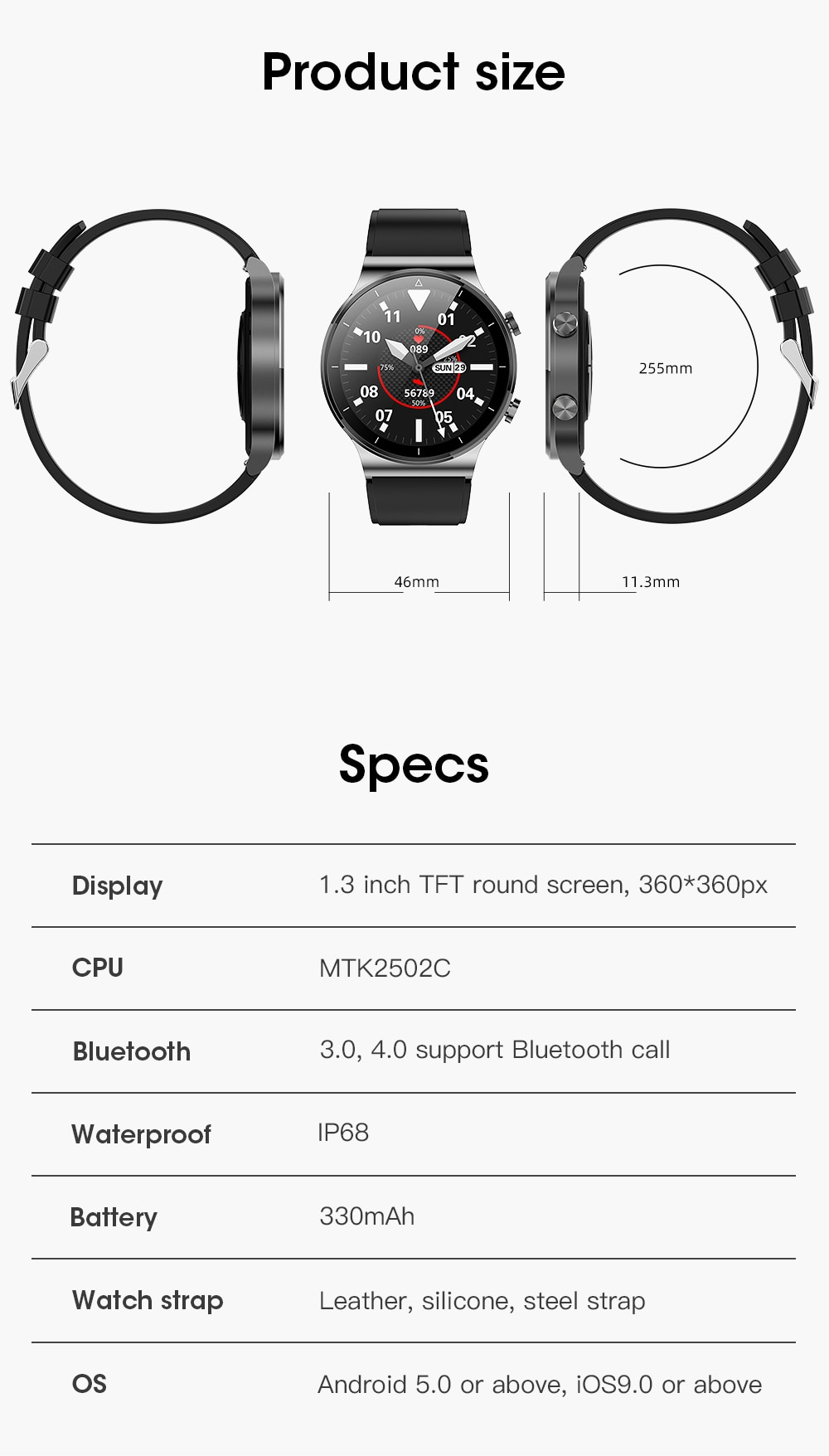 Smart Watch M2 pro for men watches Global Version in stock Fitness Tracker IP68 clock for IOS Huawei PK Huawei GT2 Pro ticwatch