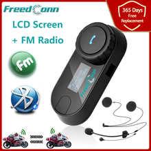 Free Shipping!!Original FDC Brand Motorcycle Helmet Intercom Bluetooth Intercom with LCD screen + FM Radio