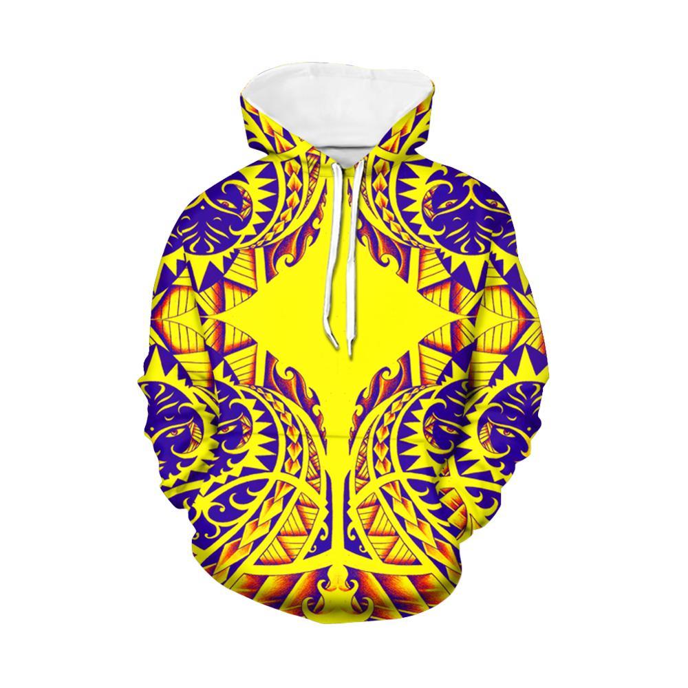 Винтажные толстовки в полинезийском стиле с цветочным принтом, женские стильные зимние толстовки большого размера с длинным рукавом, Толст...