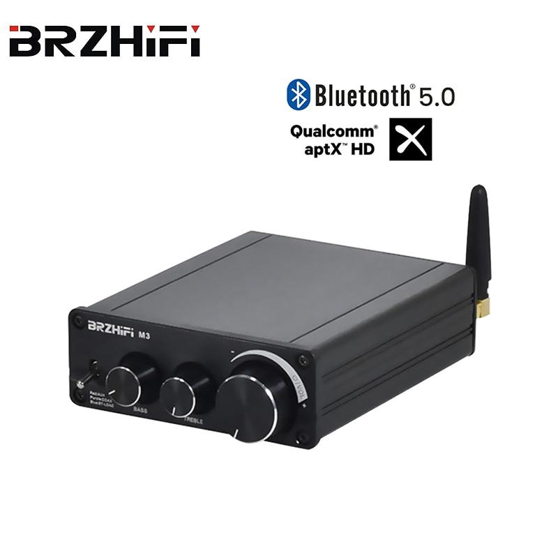 BRZHIFI بلوتوث 5.0 QCC5125 MA12070 مكبر للصوت 2*80 واط 2.1 قوة HD الصوت AUX APTX APTX-HD HiFi أمبير صغير لتقوم بها بنفسك ستيريو المسرح المنزلي
