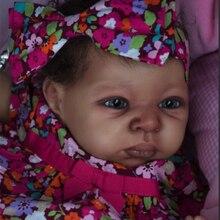 Kit Bambola rinato FAI DA TE 22 pollici Dipinto bebe Reborn Doll Modello Rinascita Infantile bambola Stampo Saskia kit bambola