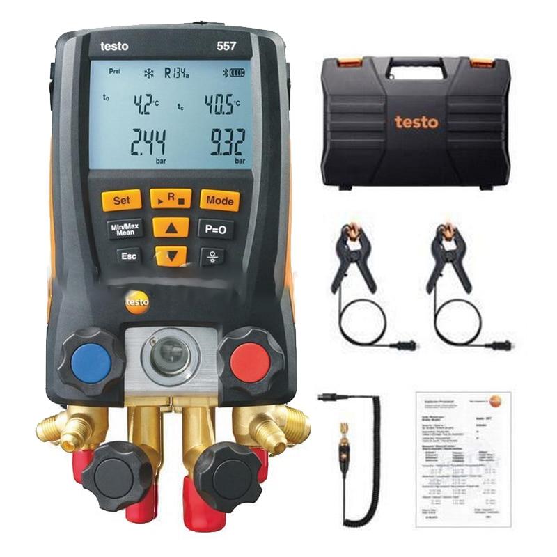 Testo 115i-مقياس ضغط ذكي ، مزود بمشبك أنبوب لاسلكي ، ميزان حرارة ، تقنية ذكية ، أداة قياس ضغط مسبار ذكي