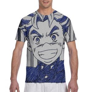 printer jojo casual t shirt funny female/male social t shirt jojo bizarre adventure figure ladies/mens t shirt