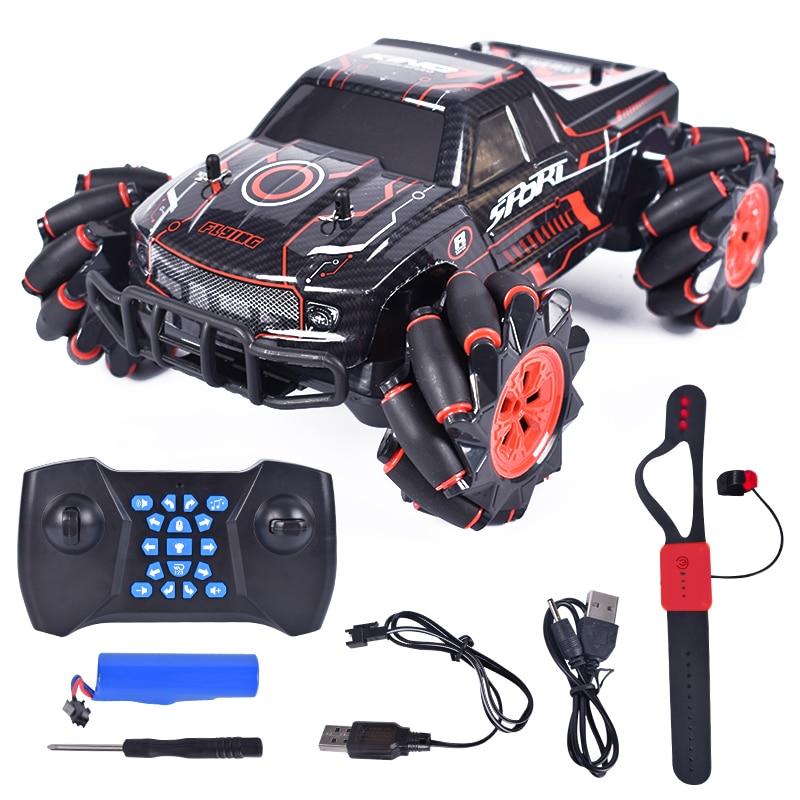 SHAREFUNBAY 2020 new rc car 1:12 4wd gesture sensing dual rc light music dancing rc car off-road climbing car enlarge