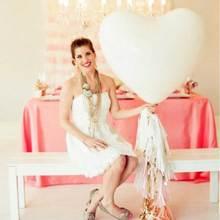 1 pièces 36 pouces grand coeur latex ballon rouge rose blanc coeur ballon mariage anniversaire fête accessoires saint valentin ballons