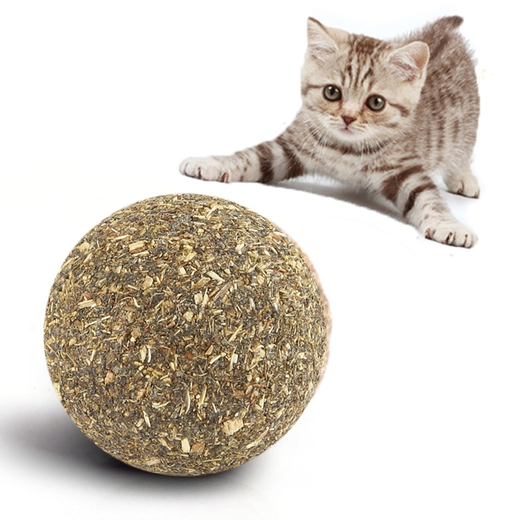 Pet Catnip Toys Edible Catnip Ball Safety Healthy Cat Mint Cats Kittens Home Chasing Game Toy Products Clean Teeth The Stomach