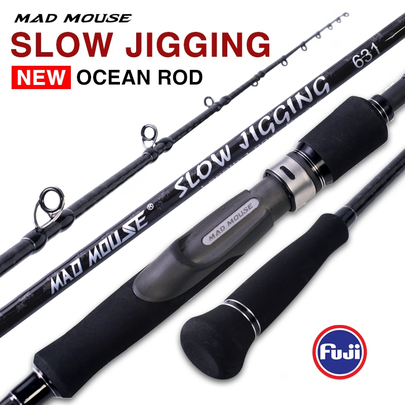 MADMOUSE Japan Full Fuji Parts Slow Jigging Rod 6