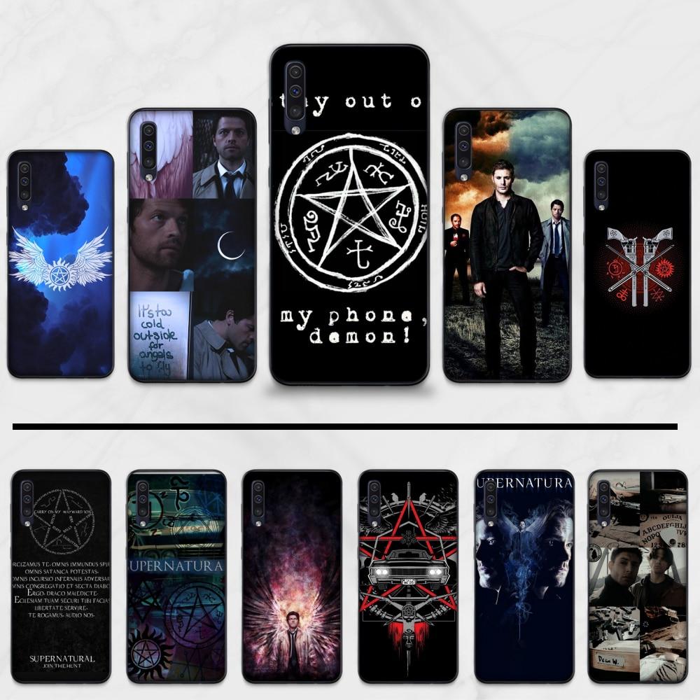 Supernatural silicona suave recién llegado negro teléfono caso para Samsung Galaxy A3 6 7 8 10 20 30 40 50 70 71 10S 20S 30S 50S PLUS