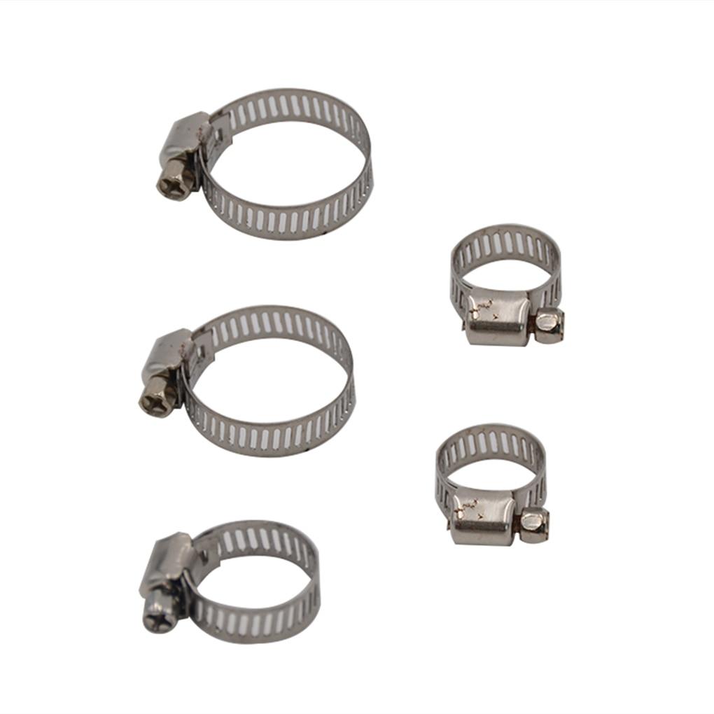 50 Teile/satz Multi Größe Edelstahl Hoop Clamp Schlauch Clamp Automotive Rohre Clip Feste Werkzeug