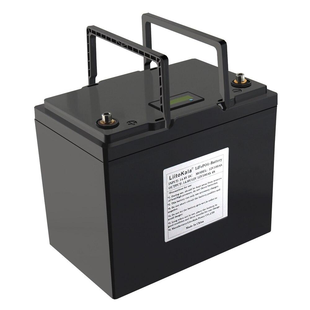 LiitoKala-حزمة بطارية Lifepo4 ، 12 فولت ، 12.8 أمبير ، مقاومة للماء ، لمحرك القارب ، العاكس ، إلخ.