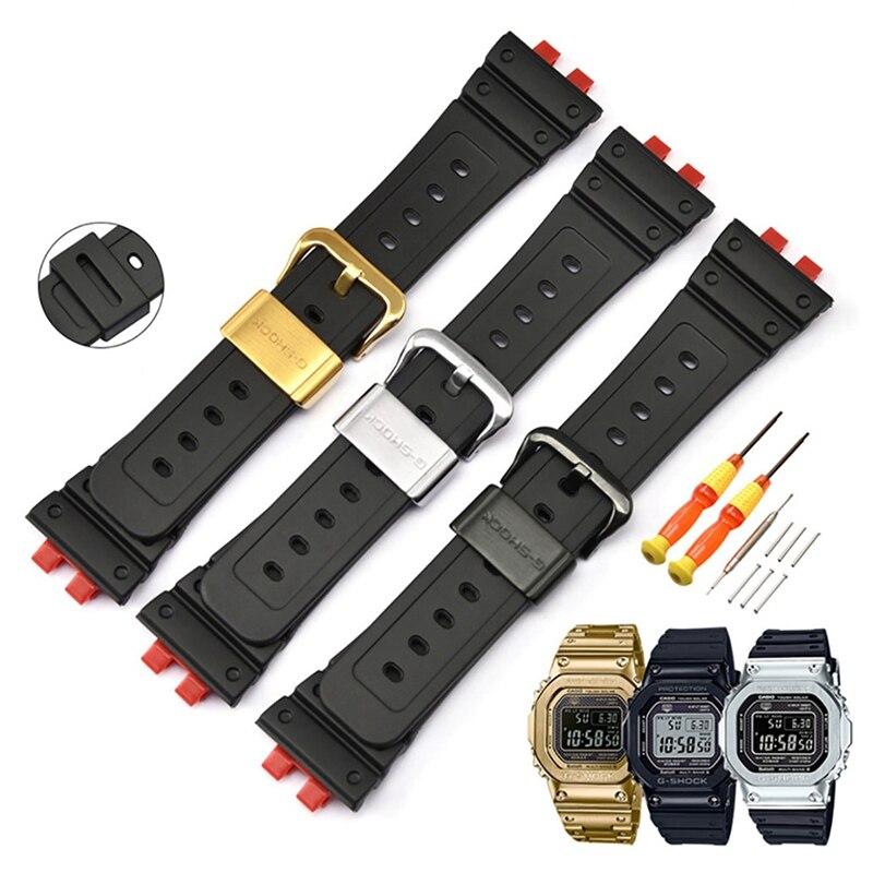 Correa de reloj nueva 2020, conjunto de marco, hebilla, reloj de pulsera de TPU, funda con correa, Kit de barra de resorte, accesorios de repuesto para Casio GMW-B5000