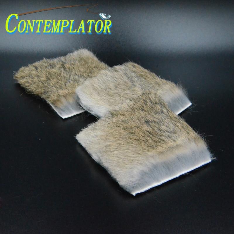 5 шт. мягкие натуральные пушистые мухи для завязывания мух из меха кролика для вылупляющихся Рыбок