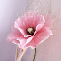 linen simulation poppy giant flower head diy wedding wall background decoration arch road lead home decor fake poppies flowers