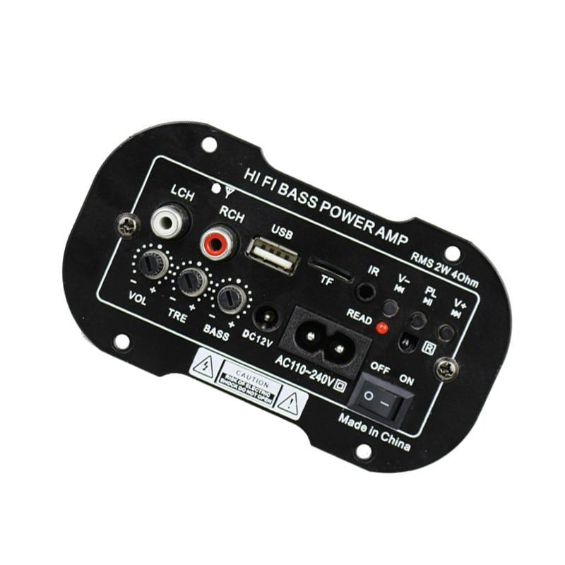 Car Room Subwoofer Hi-Fi Bass Amplifier Board MP3 Audio TF USB 220V 50W Kit