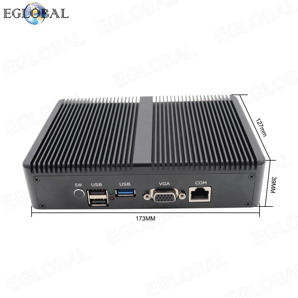 Mini PC TDP 10W Pfsense intel Celeron J1900 multi LAN, router de cortafuegos, ordenador 4 * RJ45 1000Mbps industrial, mini pc sin ventilador