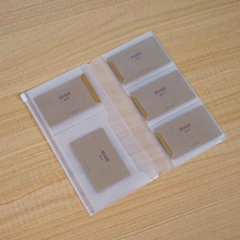 PVC Zipper Pocket File Folder Travel Journal Notebook Planner Accessories Card Holder Storage Pouch Bag
