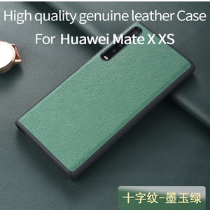 Genuine Leather Luxury Protective Case Bag for Huawei MateX Case for Huawei Mate X XS Case Pouch huawei mate X mate Xs phone bag