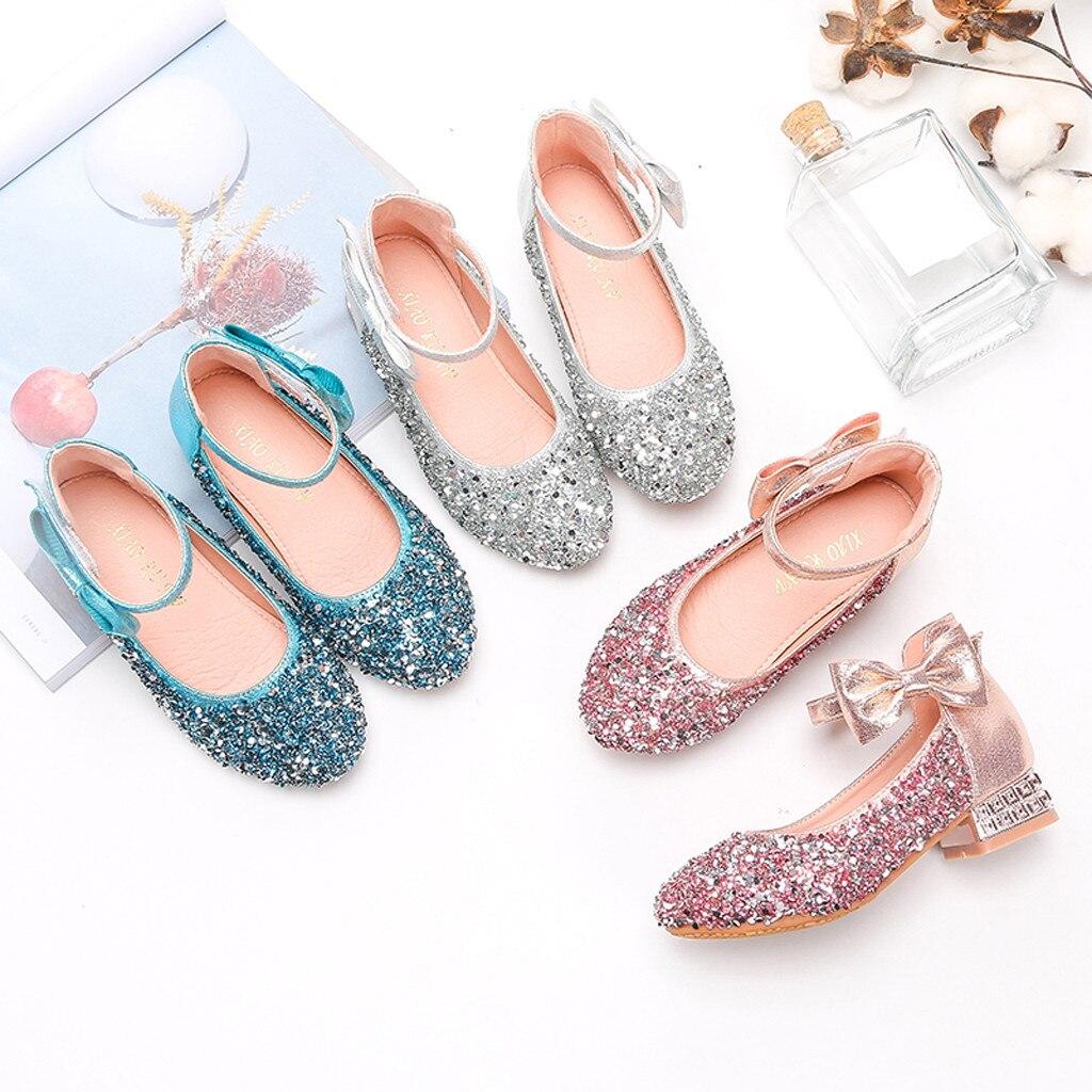 Sandalias De cristal para Niña, Zapatos De princesa, suelas blandas, Zapatos De...