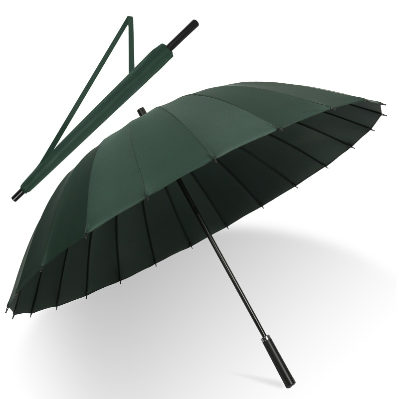 Large Double Umbrella Black Windproof Men Outdoor Waterproof Portable Golf Umbrella Rain Travel Paraguas Grande Rain Gear DA60YS enlarge