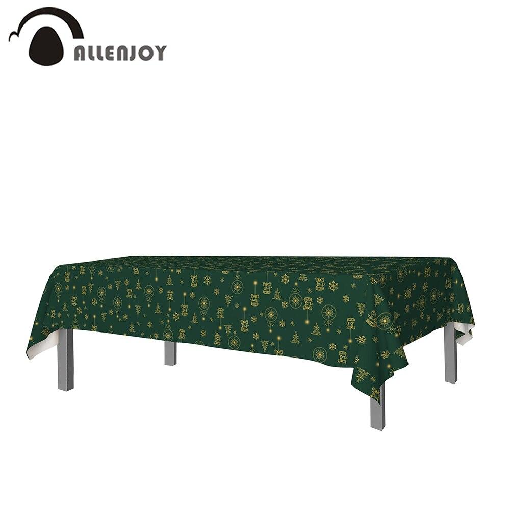 Allenjoy-لوازم طاولة الخطوة والتكرار ، بياضات مائدة ذهبية ، أجراس ، أشجار ، ثلج ، منزل ، أخضر ، عيد الميلاد ، الربيع ، نزهة ، حفلات
