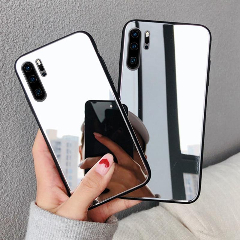 Funda de lujo para Xiaomi Redmi Note 8 Pro, funda blanda con espejo brillante para huawei note 8 note 8 Note 8T