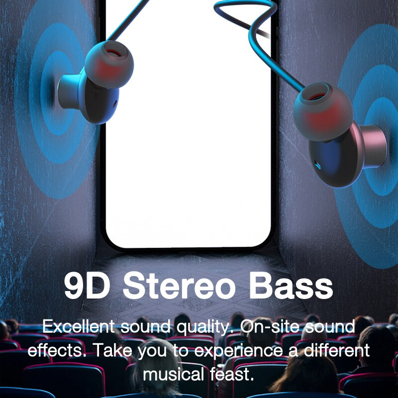 New Product  80 Hours Endurance Bass Bluetooth Headset With Microphone Stereo Neckband Headset Sports Headset With TF Card enlarge