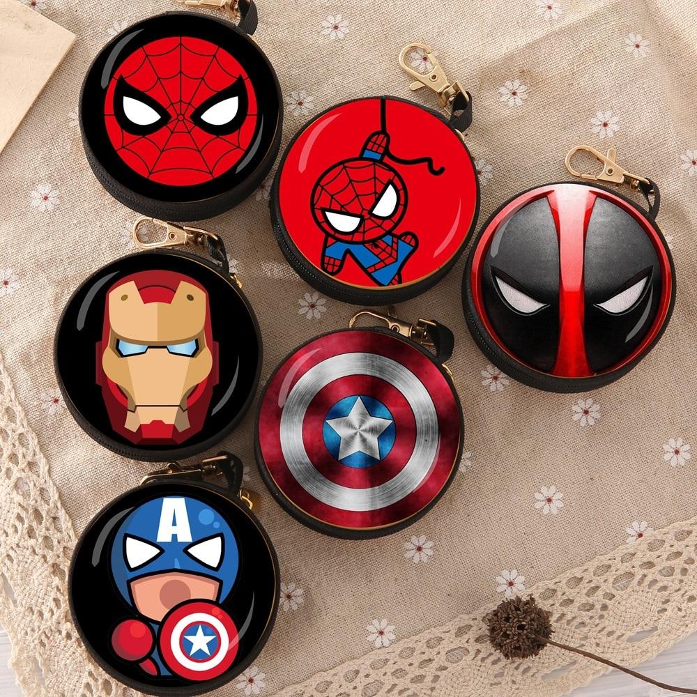 Супергерои, Мстители, Бэтмен, Капитан Америка, Тор, Железный человек, Человек-паук, Дэдпул, сумка для монет, модель, фигурка, креативный кошелек, подарок