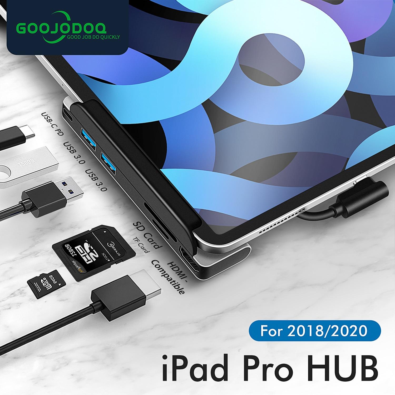 USB C HUB نوع C HUB إلى HDMI-متوافق USB 3.0 87 واط PD SD TF الهاتف المحمول USB-C USB HUB محول ل ماك بوك برو لباد برو