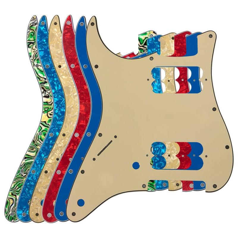 Pleroo partes izquierda protectores con 2 11 tornillos para Fender estándar contemporáneo...