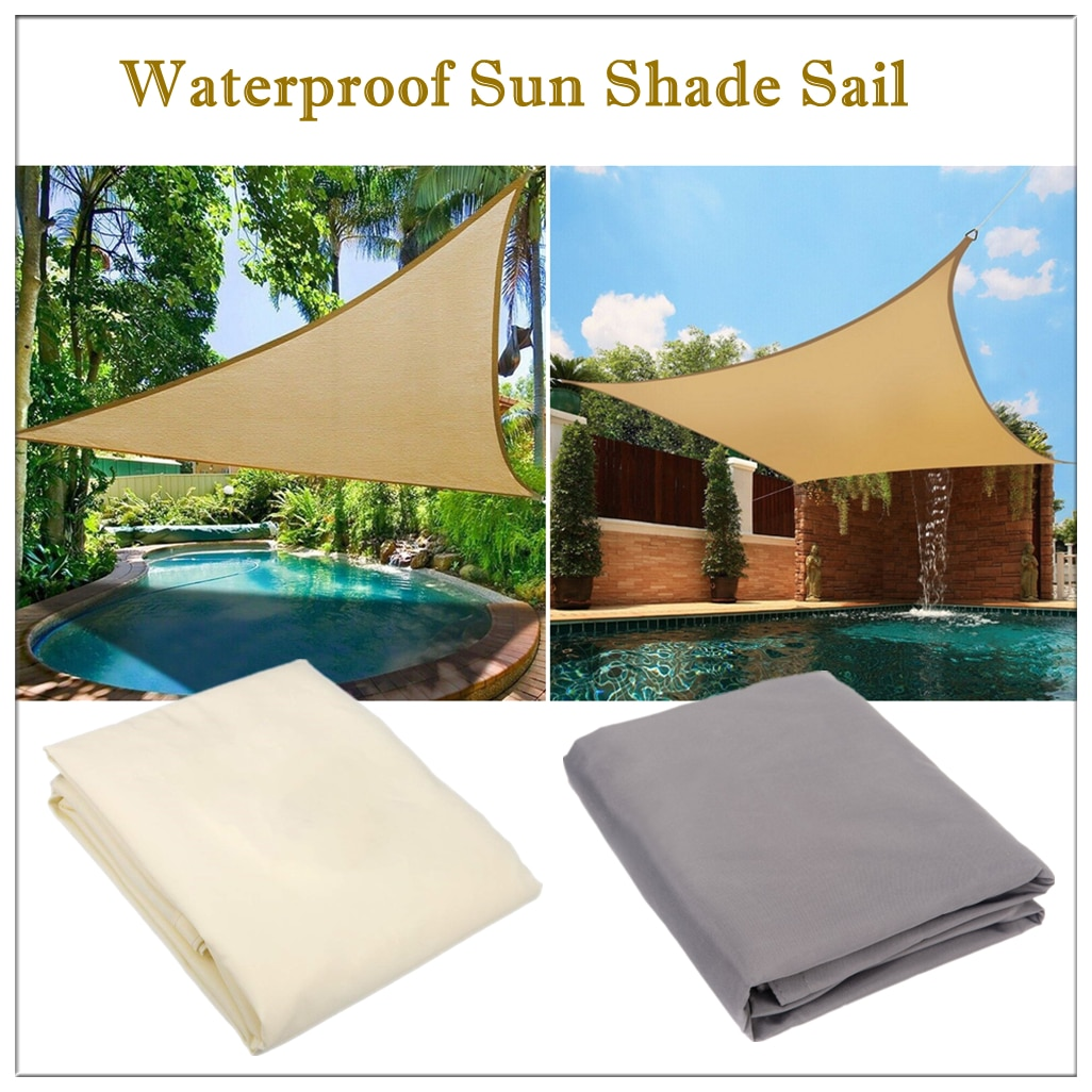 AliExpress - Waterproof Sun Shade Sail Triangle Sunshade Sail For Garden Patio Outdoor Awings Canopy Pool Awning Camping Sun Shelter Tent