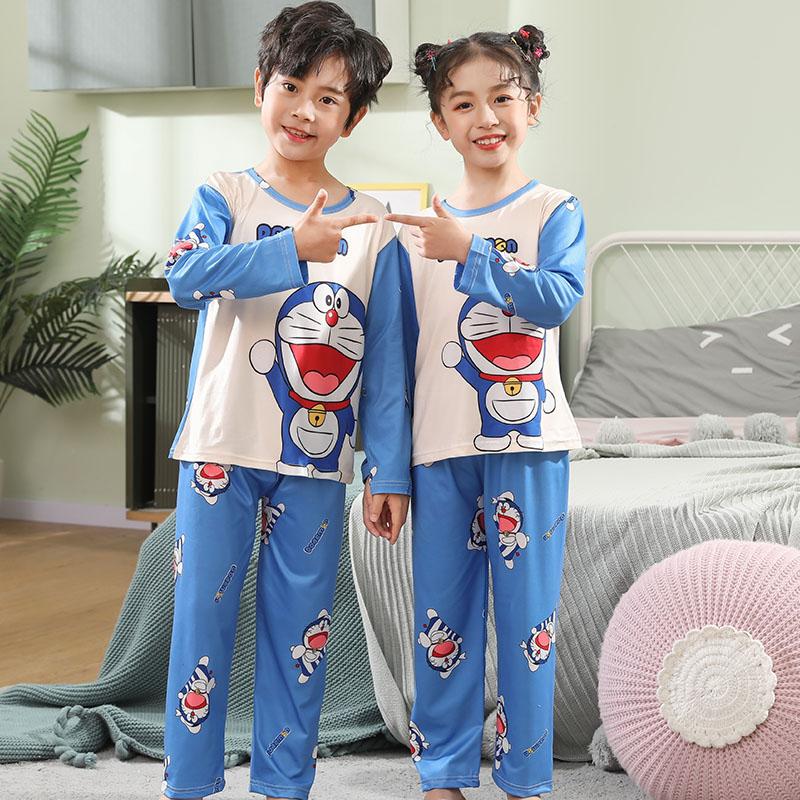 Spring Kids Clothes Girls 3-12 Years Long Sleeve Children Pajamas Set Boys Cartoon Summer Sleepwear Unisex Homewear