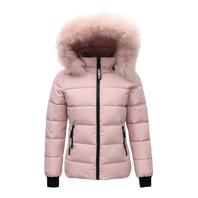 2018 new kids baby girl boy 2 4y outwear fur hooded coat ski snow suit jacket bib pants overalls 30 degree down clothes Women down jacket Fur collar plus size winter coat  Warm Parkas Snow Outwear winter clothes 2020 new black white ladies coats