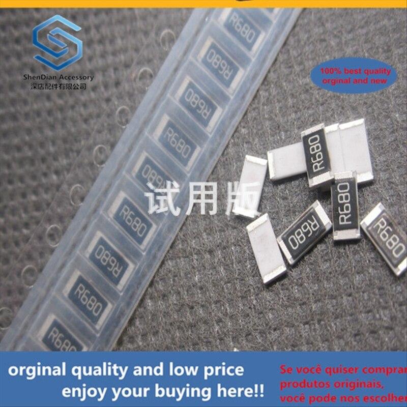 50 pçs 100% original novo melhor qualidade chip resistor 2010f 0.68r 0.68 euro precisão 1% 5025 pacote de tela seda r680 3/4 w