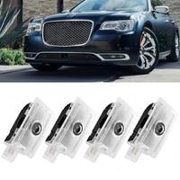 2 pcs led welcome light logo laser projector for chrysler 200 300 sebring car door lamp auto courtesy ghost shadow emblem luces