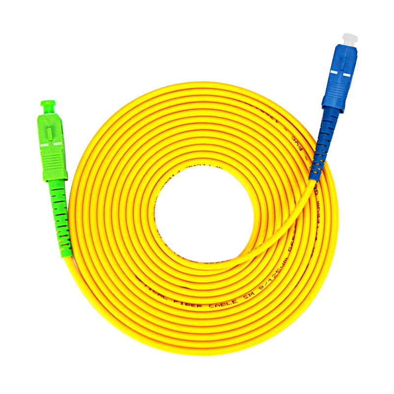 10 Pcs SC/APC-SC/UPC Simplex 2.0 milímetros PVC Fibra Óptica Jumper de Modo Único Cabo de Extensão Do Cabo de Remendo 1 m, 3 m, 5 m, 10 m, 20 m, 30m