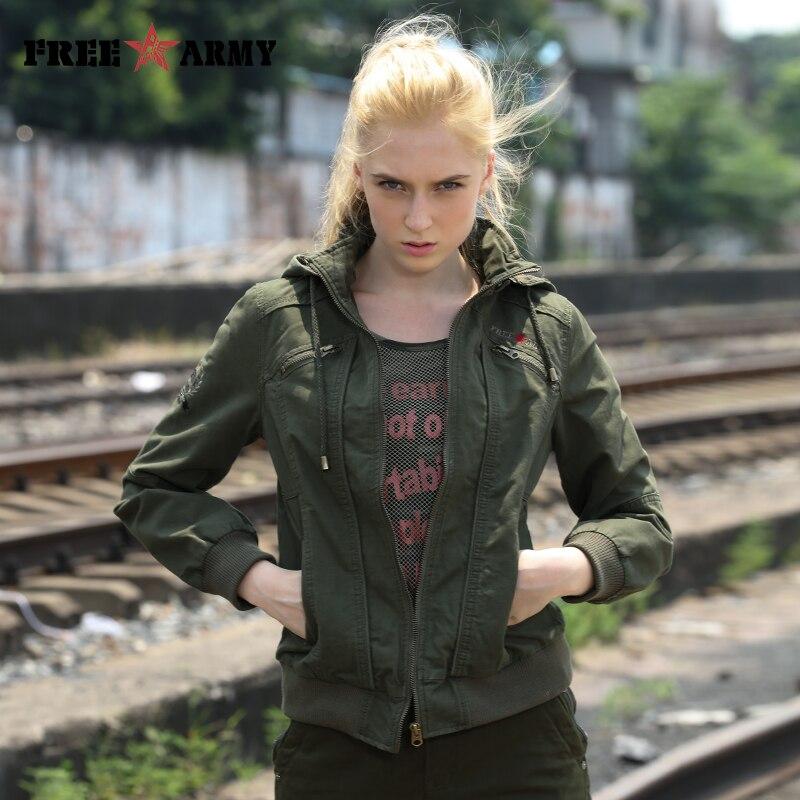Брендовая качественная женская куртка с капюшоном, демисезонные куртки, женская модная короткая куртка, зеленые куртки-бомберы, женская ве...